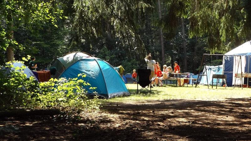 A busy campsite - <i>A busy campsite</i>