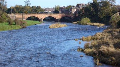Annan River bridge near the caravan site