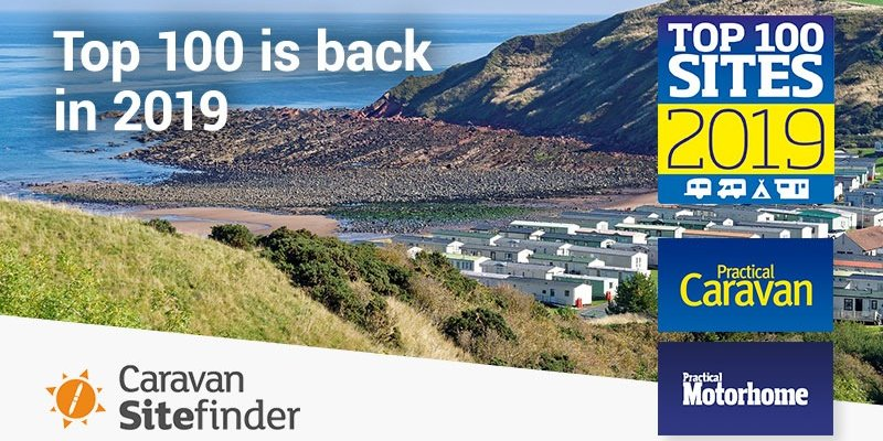 Top 100 Sites 2019 - An updated list of the best 100 camping sites for 2019 in the UK.