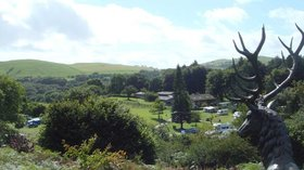 Campsite in Mid Wales, Woodlands Caravan Park, Woodlands Devil's Bridge - Overlooking the park and the neighbouring hills
