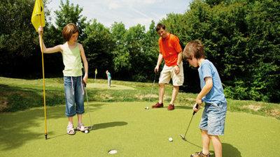 Mini golf on the site