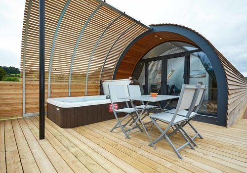 Photo of Camping pod: XL Hideout with Electric Hot Tub
