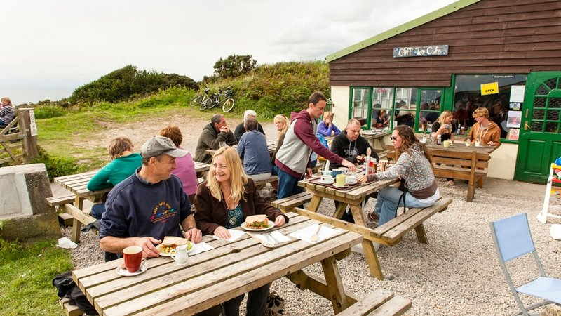 Tregonhawke clifftop cafe (© Dave LF Smith for Practical Motorhome)