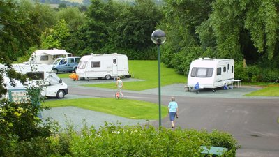 Photo of Broadway Caravan Club Site - Tourers on site