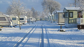 Winter wonderland on the caravan site