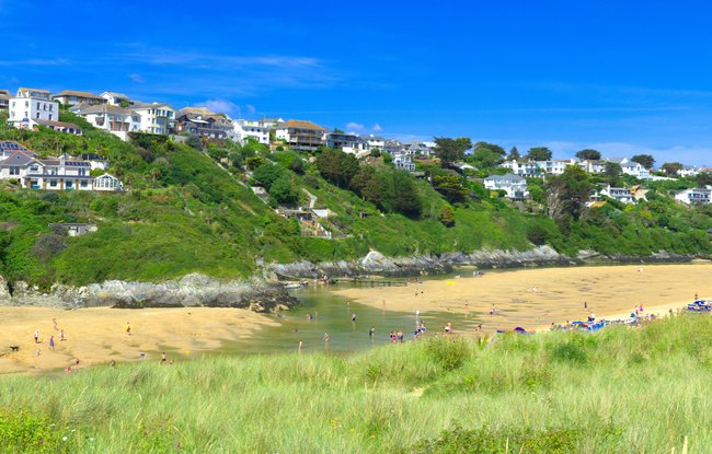 River Gannel and Crantock beach, Newquay, Cornwall panorama - by Thomas Tolkien (© Thomas Tolkien from Yorkshire, UK [CC BY 2.0 (https://creativecommons.org/licenses/by/2.0)], via Wikimedia Commons (original photo: https://commons.wikimedia.org/wiki/File:River_Gannel_and_Crantock_beach,_Newquay,_Cornwall_panorama_2_by_Thomas_Tolkien_(14683579345).jpg))