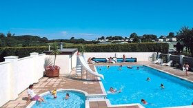 Swimming pool at Nant Newydd Caravan Park - One of excellent facilities on the park - swimming pool
