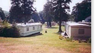 Static caravans on the caravan park