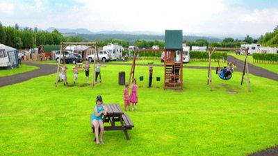 Children's area on the caravan park