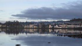 Reflections of Lochgilphead in December near the caravan site
