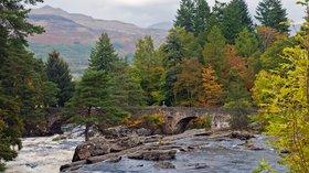 Falls of Dochart, Killin, Perthshire, Scotland near the caravan site