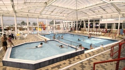 The indoor pool at California Cliffs