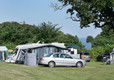 Touring caravans at Leadstone Camping