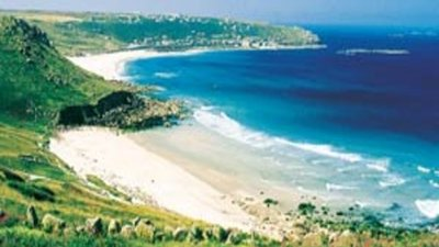 Surroundings of Trevedra Farm Caravan and Camping Site, Cornwall, South West England - Beach near the park