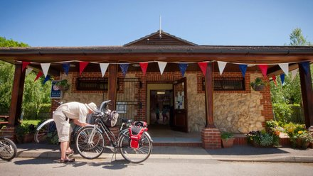 Cyclists at Reception - You can enjoy many cycling routes from Broadhembury and in the surrounding area.