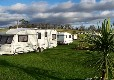 Touring caravans on site