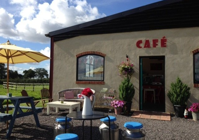 The cafe at Merkins Farm is one of the attractions