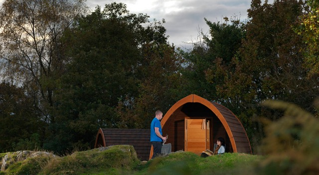 Stay in a stylish camping pod at Park Cliffe