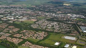 Glenrothes Aerial Picture of the area near the caravan park