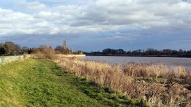 The Yorkshire Ouse at Goole close to the caravan site (© © Copyright Trevor Littlewood (https://www.geograph.org.uk/profile/39198) and licensed for reuse (http://www.geograph.org.uk/reuse.php?id=2741667)under this Creative Commons Licence (https://creativecommons.org/licenses/by-sa/2.0/).)