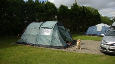 Camping on the site