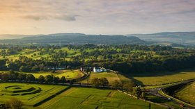 Caravan storage Stirlingshire - Aerial view of Stirling in Scotland