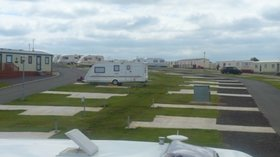 Picture of the touring pitches at Hilltop Holiday Park, Antrim, Northern Ireland