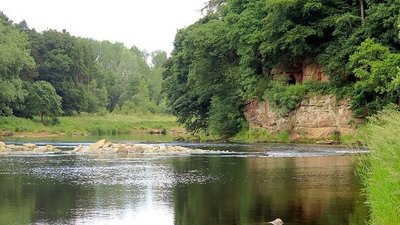 River Eden at Lacy's Caves (© © Copyright Andrew Curtis (https://www.geograph.org.uk/profile/32242) and licensed for reuse (http://www.geograph.org.uk/reuse.php?id=5028363) under this Creative Commons Licence (https://creativecommons.org/licenses/by-sa/2.0/).)