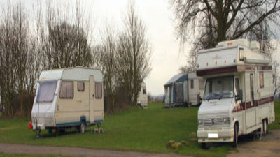 Caravanning on the site