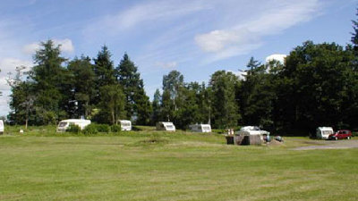 On the camping field of the caravan park
