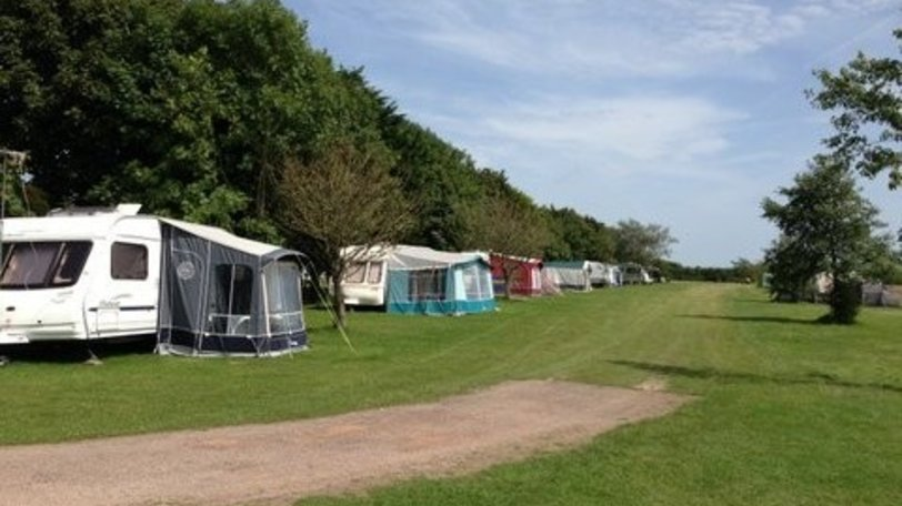 Camping at Branscombe Airfield Campsite