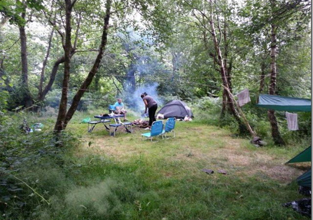 Small camp fires are allowed at Lone Wolf Campsite in South Wales