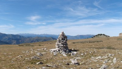 In the region of Pyrenees Orientales: Cairn et panorama, Pla Guillem, Pyrénées orientales (© By El Caro (Own work) [CC BY-SA 3.0 (http://creativecommons.org/licenses/by-sa/3.0)], via Wikimedia Commons (original photo: https://commons.wikimedia.org/wiki/File:Cairn_et_panorama,_Pla_Guillem,_Pyr%C3%A9n%C3%A9es_orientales.jpg))