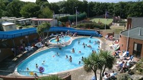 The outdoor pool at Lower Hyde