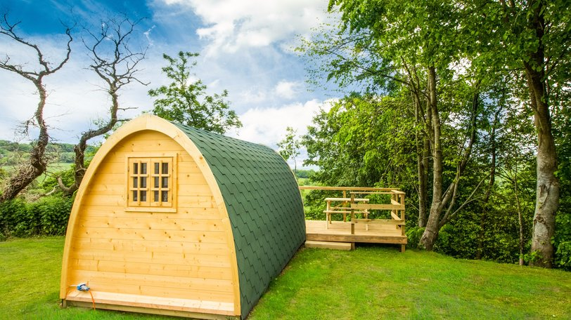 Glamping Holiday Luxury Pods East Devon - There are 3 glamping pods, two of them sleep 4 and one sleeps 2 people.