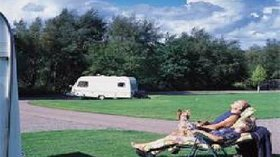Tourer on the caravan site, in nice sunny weather