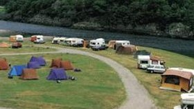 Aerial photograph of the tourers on the caravan site