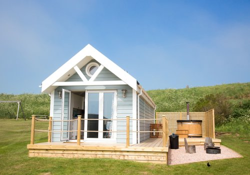 Photo of Lodge: Deluxe Beach Hut with Hot Tub