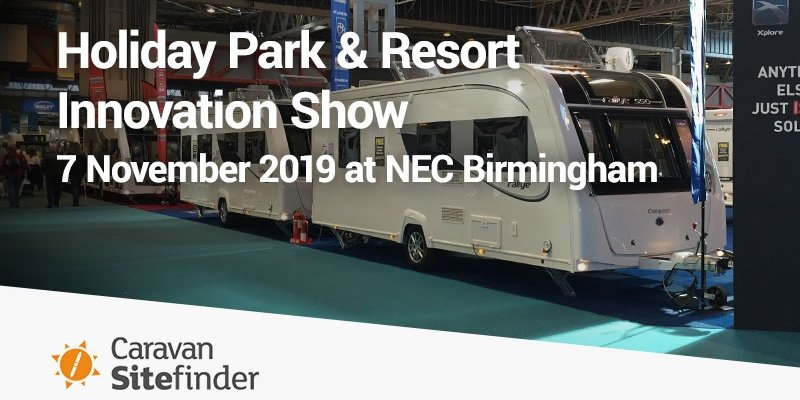 Holiday Park and Resort Innovation SHow 2019 - Bookster will be attending the Holiday Park and Resort Innovation Show to meet with caravan and camping park owners.