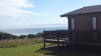 Lodge and view on the caravan park