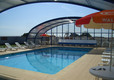 Swimming Pool cover open